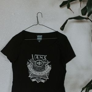 Black Vans Crop Top